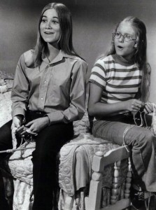"""""""Marcia"""" and """"Jan"""" from the Brady Bunch, 1972"""