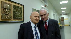 L-R Georges Mathe and Radojko Maksic Photo credit: Inserm / Catherine Gaston-Mathé