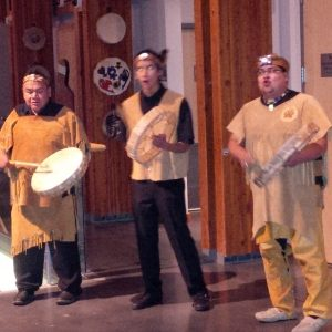 Welcome drumming at Squamish Lil'wat Cultural Centre